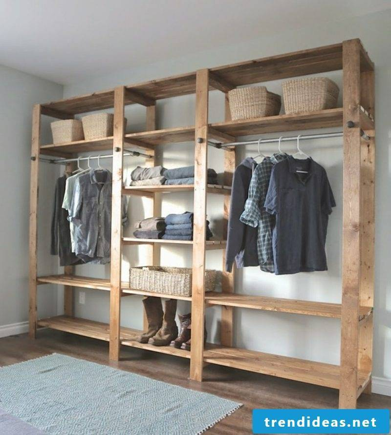 clothes rack made of europallets