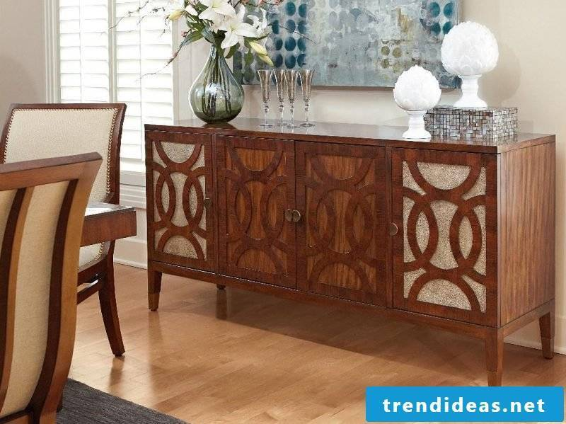 Build sideboard yourself and decorate uniquely