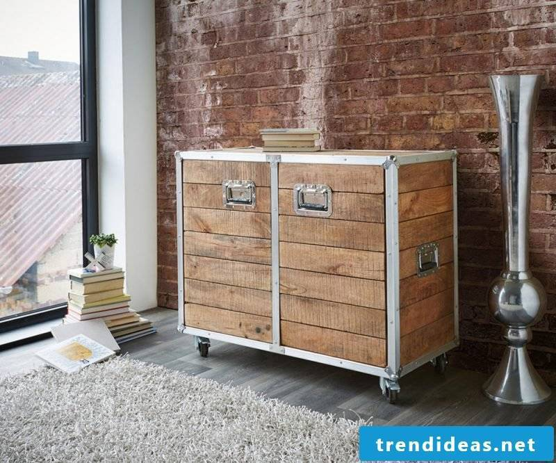 Combine metal and wood to build a sideboard yourself