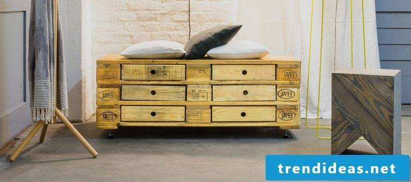 Build sideboard from pallets yourself
