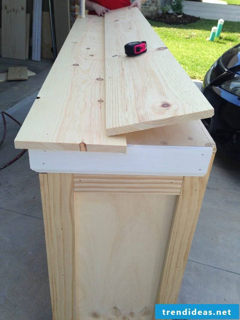 Build Sideboard yourself: Instructions Step 4