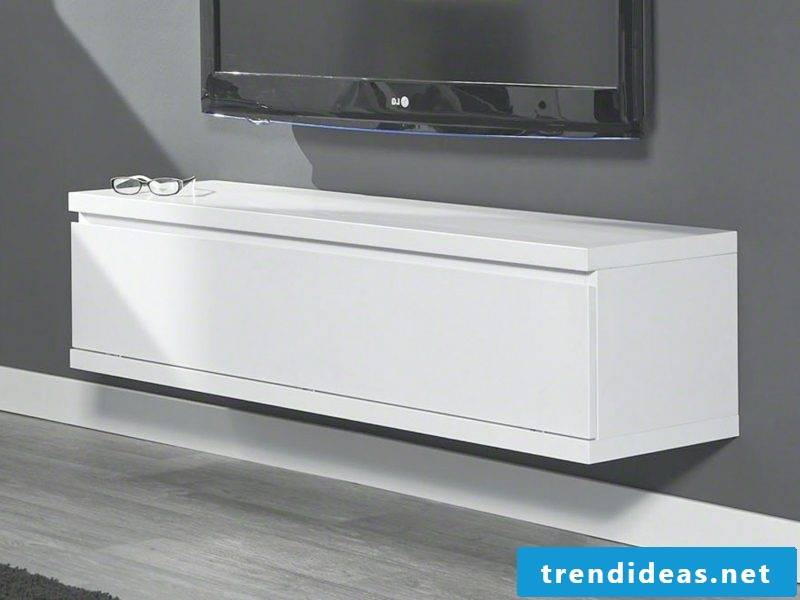 Sideboard hanging modern variant in white