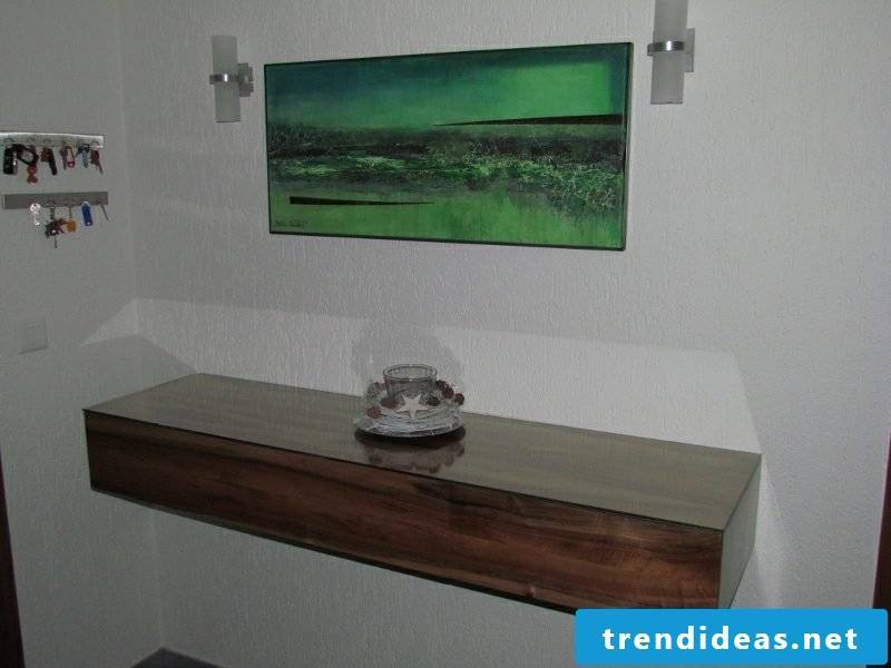 Sideboard hanging wood modern design