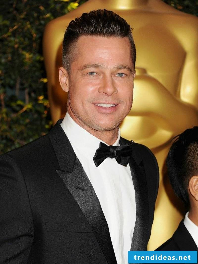 Undercut men short hair Brad Pitt