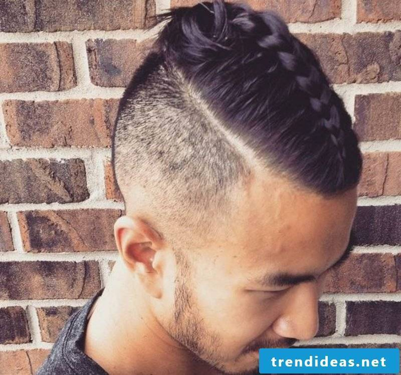Hairstyles long hair men sidecut with braid braids long hair