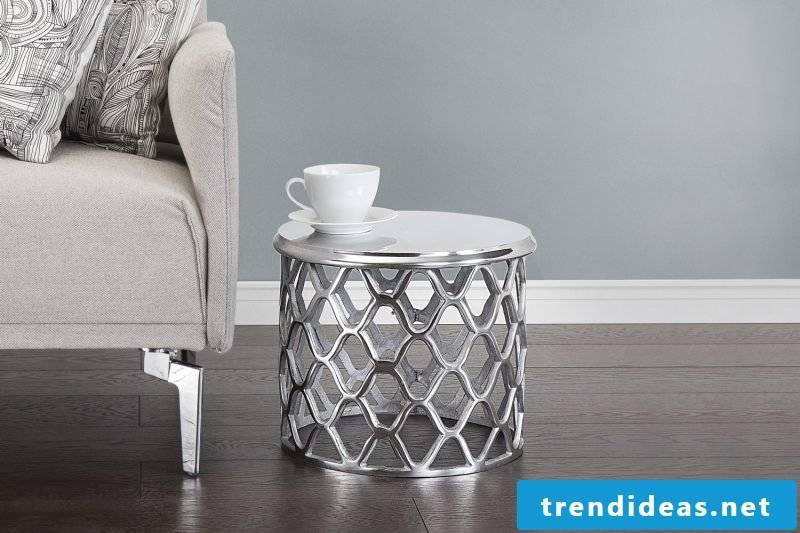 Mini side table in the living room.