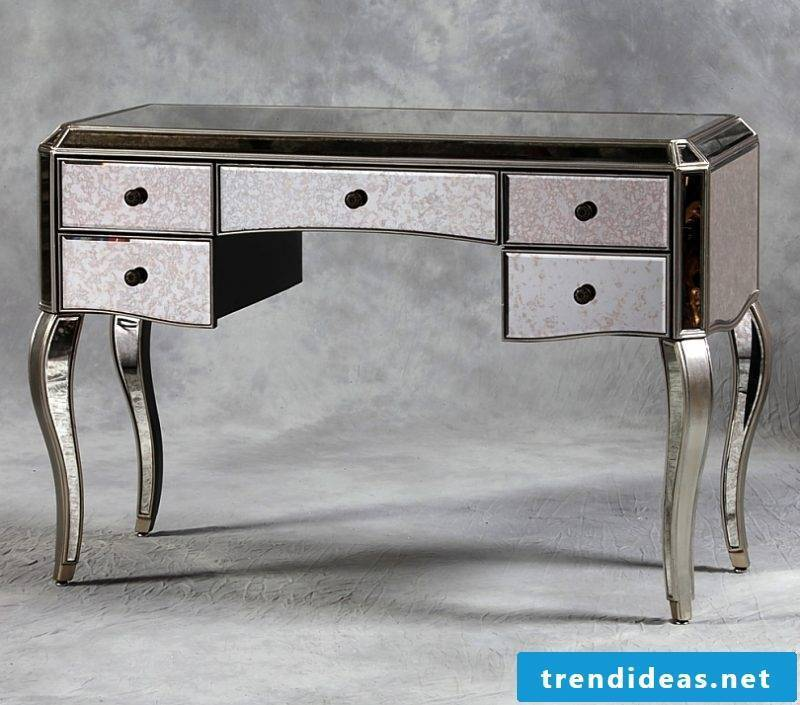 Antique silver table.