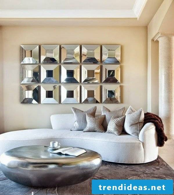 Inspiration with silver table.