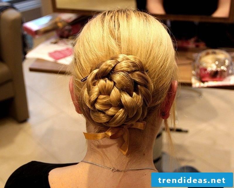 Updos braided French bun