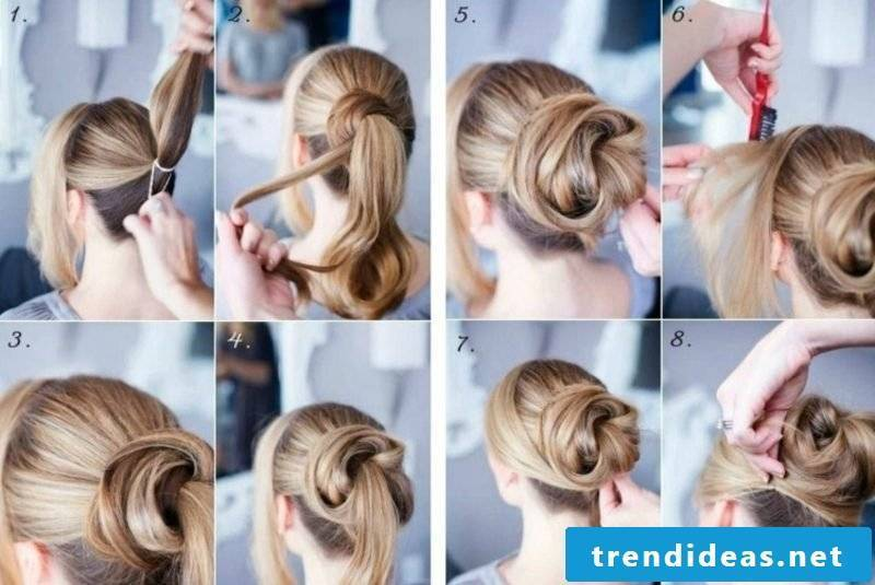 Updos Dutt himself make instructions in pictures