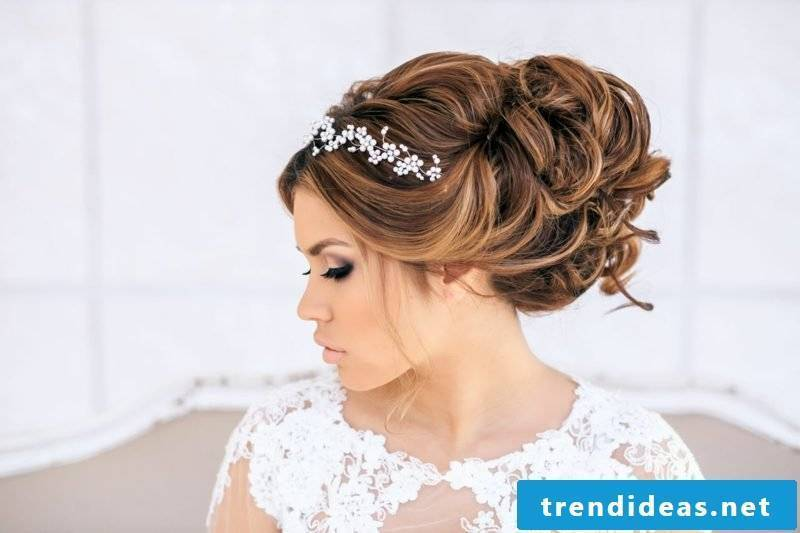 Hairstyles for long hair bride