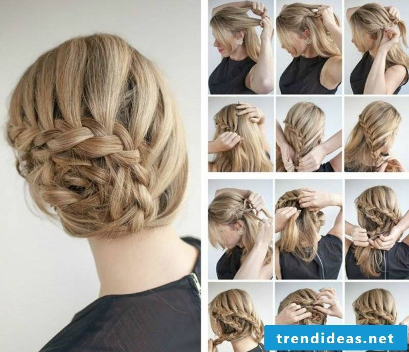 Braided hairstyles Instructions for making your own with pictures Waterfall braid pinned up