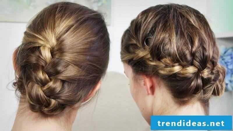 Braided hairstyles medium up