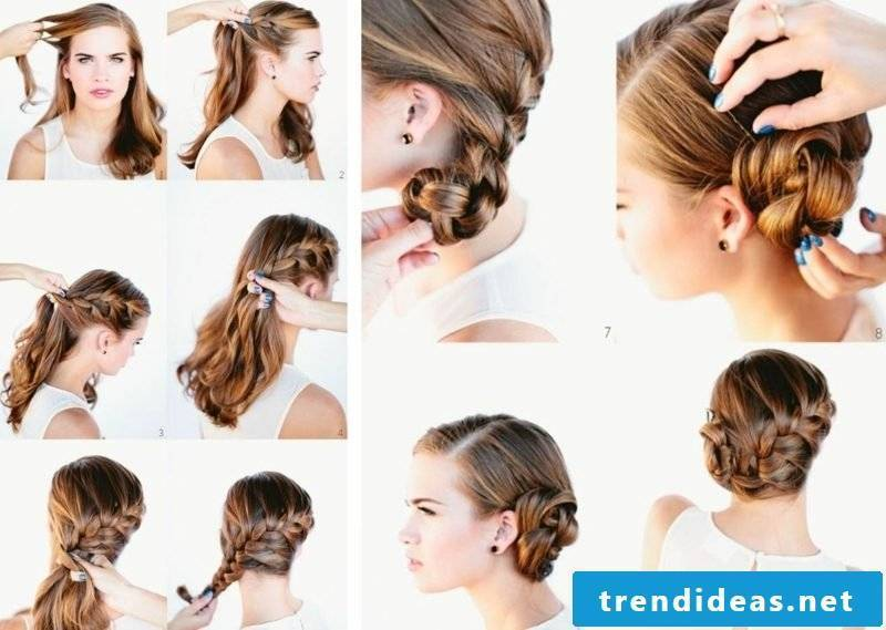 Hairstyles braided long hair pinned up
