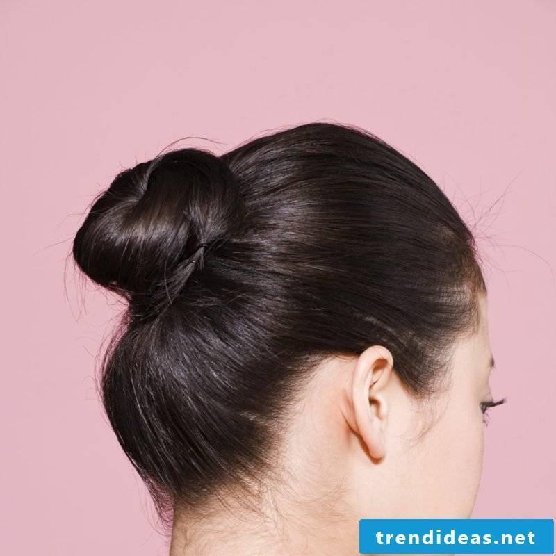 simple bun hairstyle