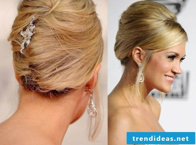 interesting updo with hair accessories