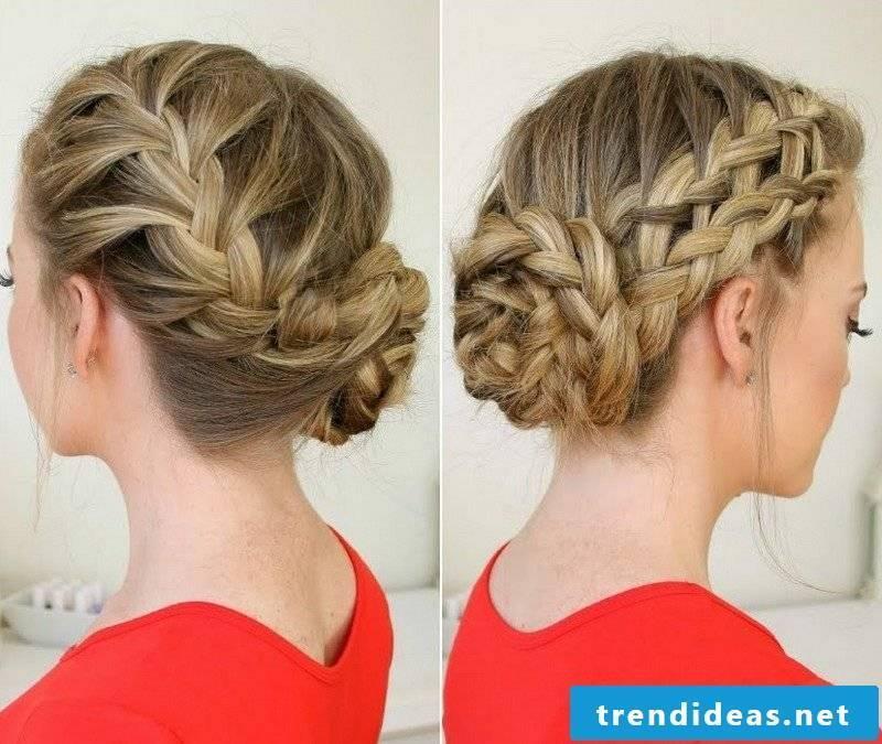 playful braiding high-set hair