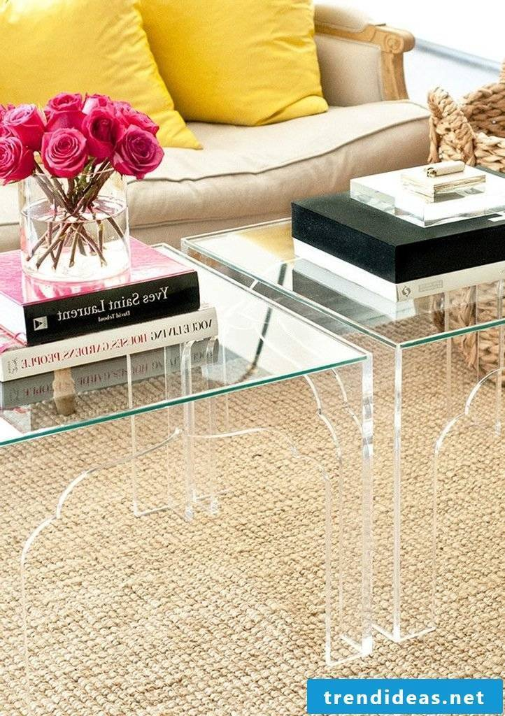 living room design ideas glass table