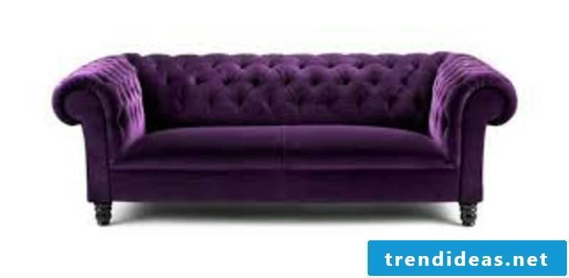 massive purple couch
