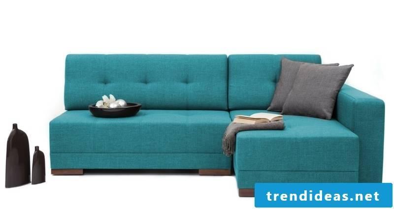 massive sofa in blue