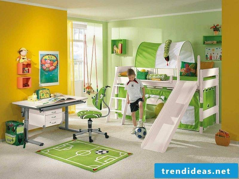 Nursery carpet in football theme