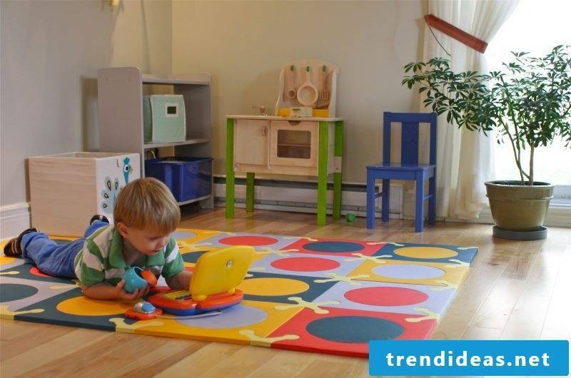Children love to play on the nursery carpet