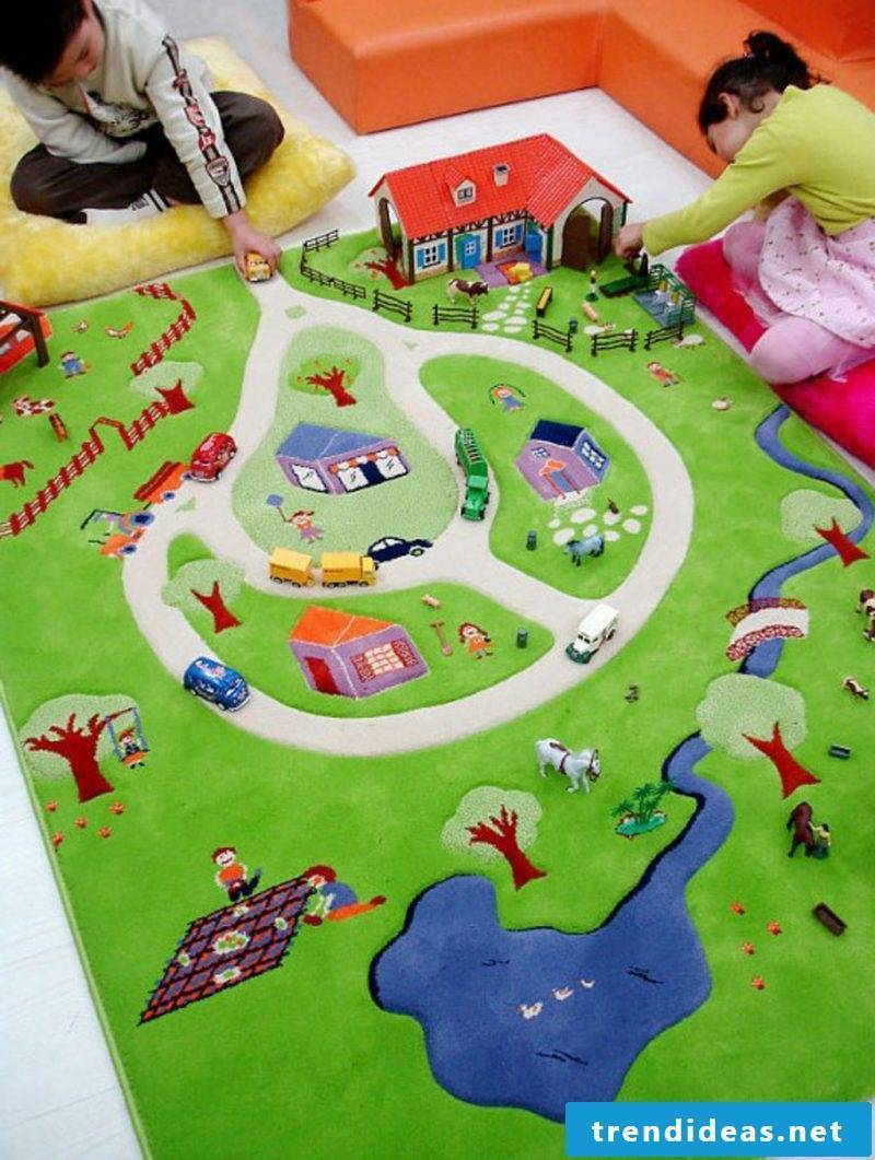 Nursery carpet suitable for play