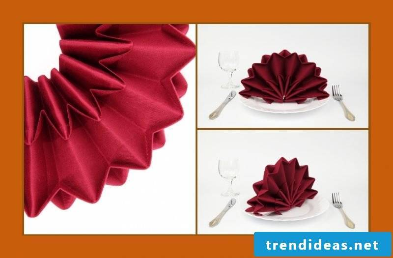 Star napkins fold idea