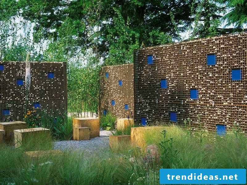 high gabion walls garden eye-catcher and privacy more attractive look