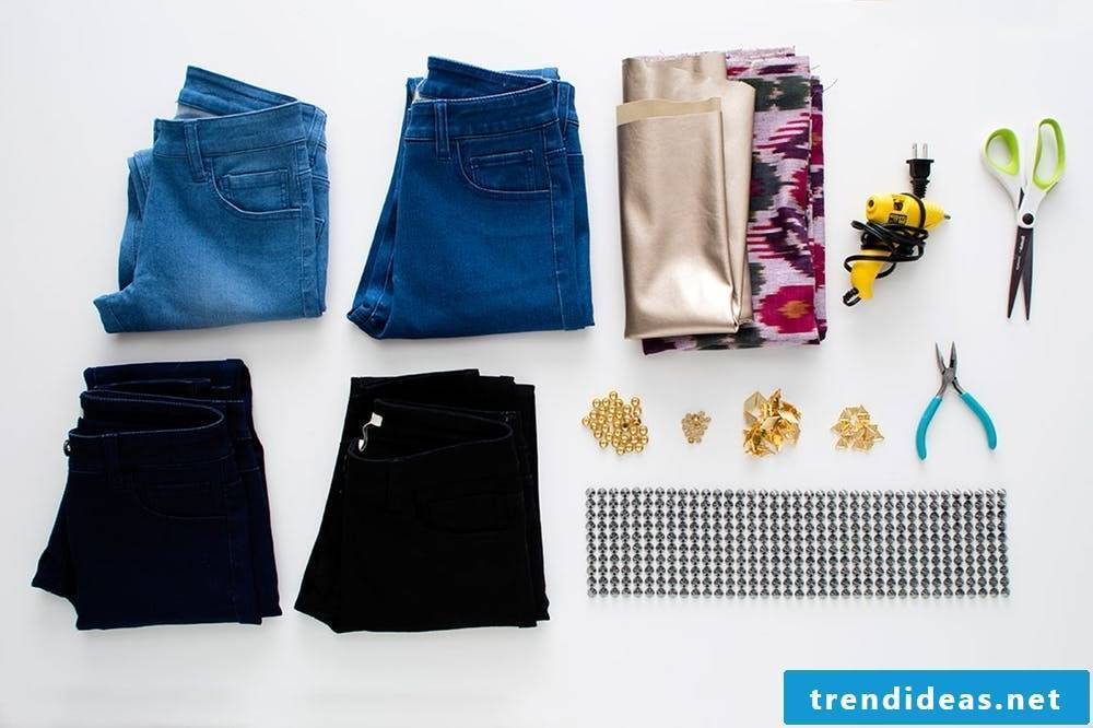 The necessary materials and equipment for your newly designed summer pants