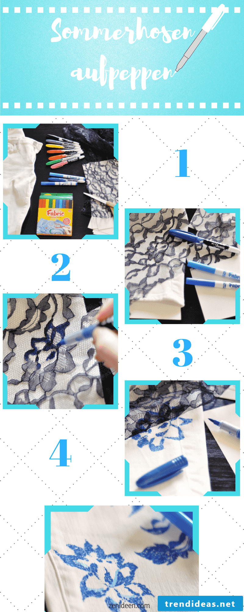 DIY guide for lightweight summer pants with floral design