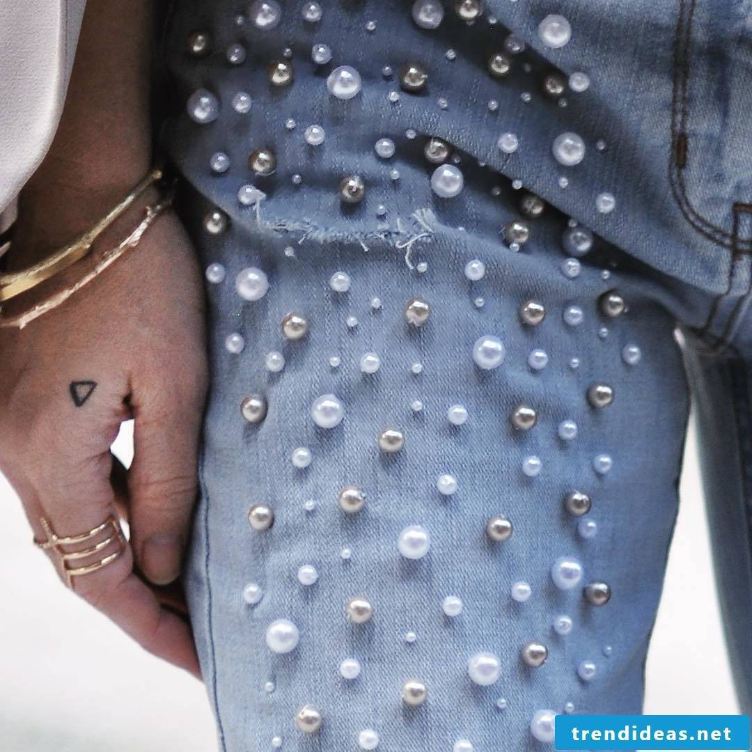 Do Zalando pants with pearls yourself?  No problem, find out how it's done here.