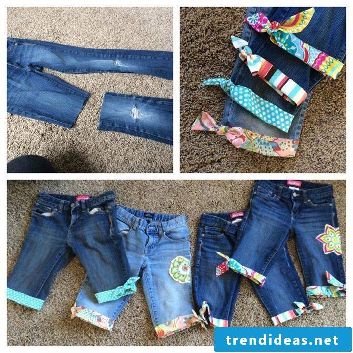 DIY Stradhose ladies from old jeans
