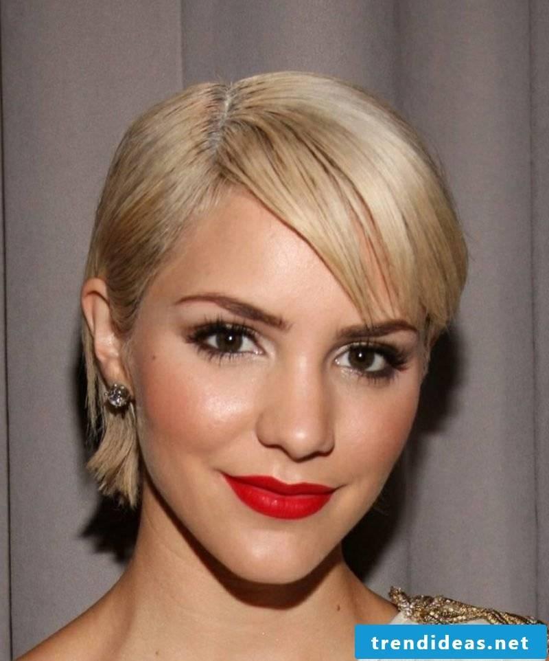 Short hairstyles asymmetrical with undercut