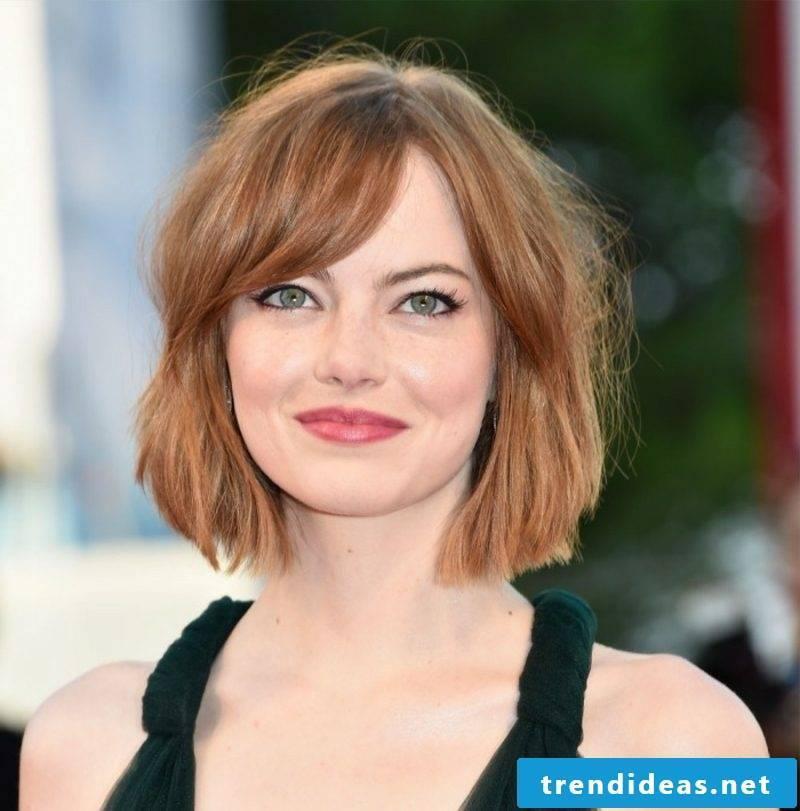 short hair style Emma Stone Bob hairstyle
