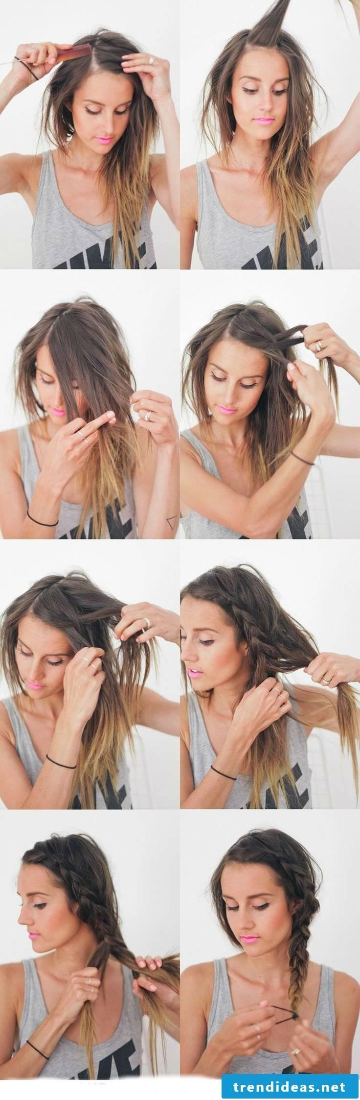 Braided hairstyles medium-length hair