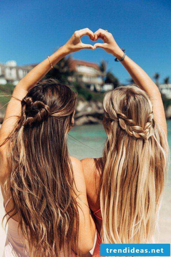 Sun and beach: the 50 most beautiful beach hairstyles and summer ...