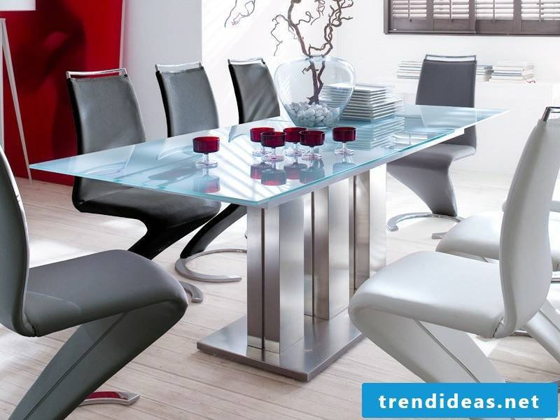 extremely extravagant kitchen table with modern chairs