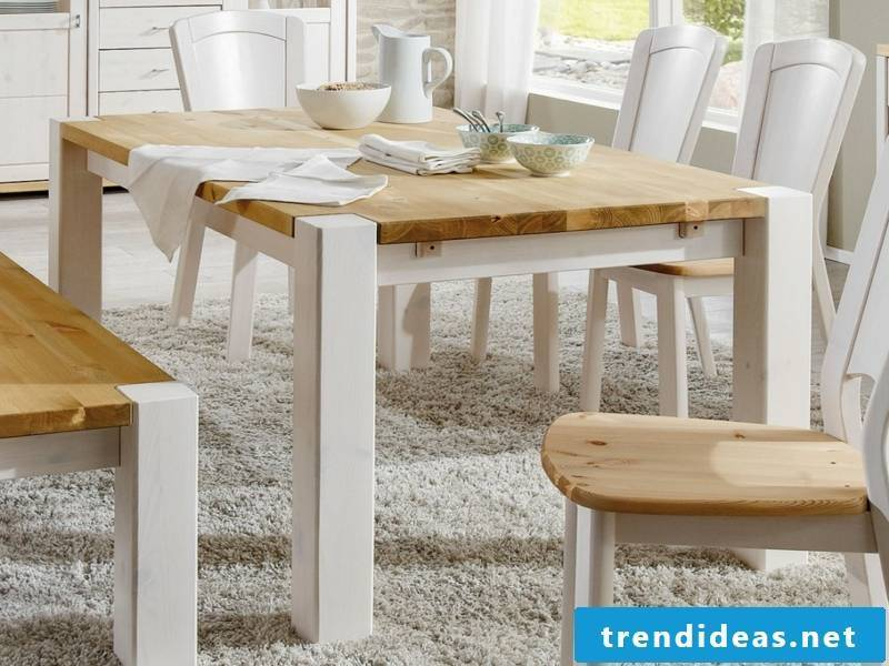 white-lipped pine kitchen table