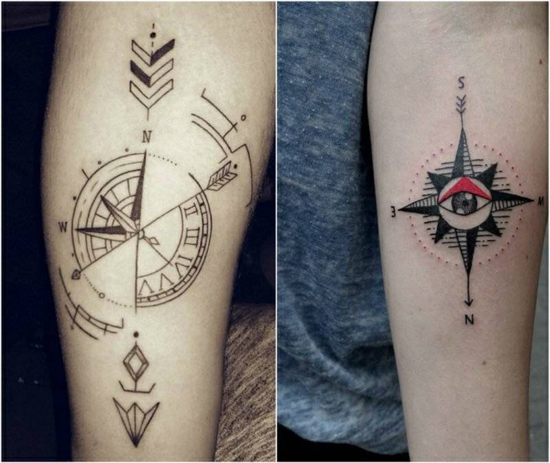 Compass Tattoo Template 2 ideas