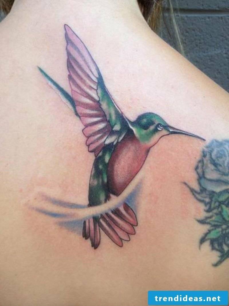 Hummingbird tattoo-34-Colored Hummingbird tattoos-resized