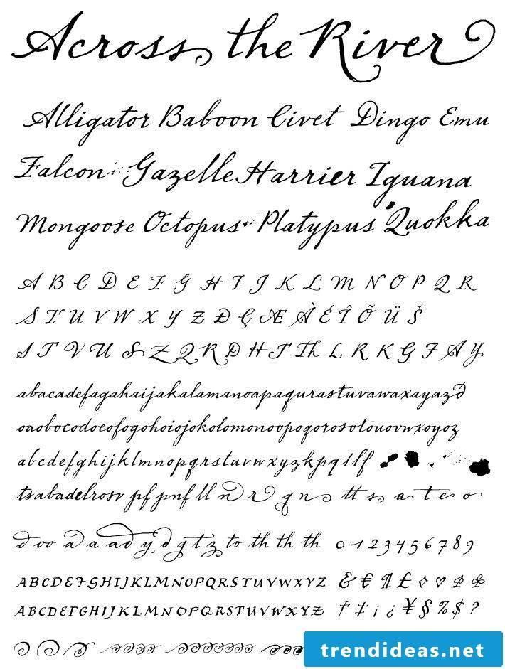 Free Tattoo Template for Tattoo Lettering - Tattoo Fonts