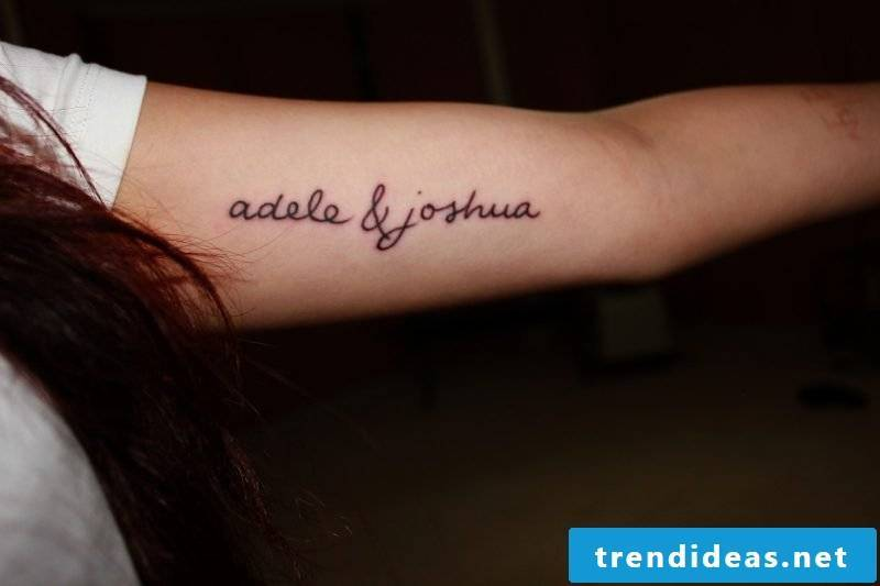 Lettering tattoo name