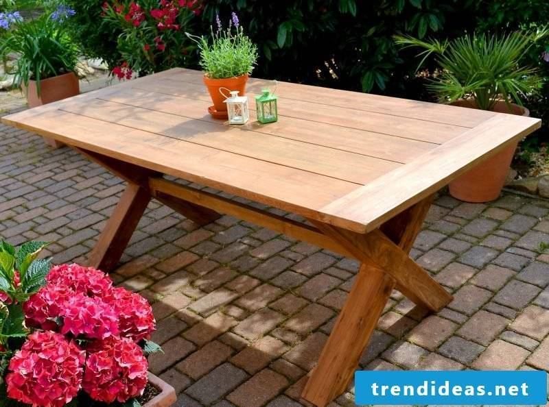 Teak care garden furniture