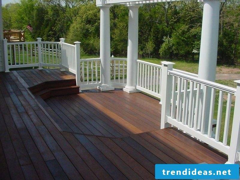 terrace railing wooden