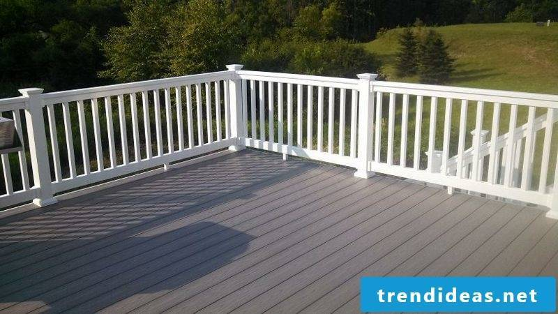 patio railing white vinyl deck railing