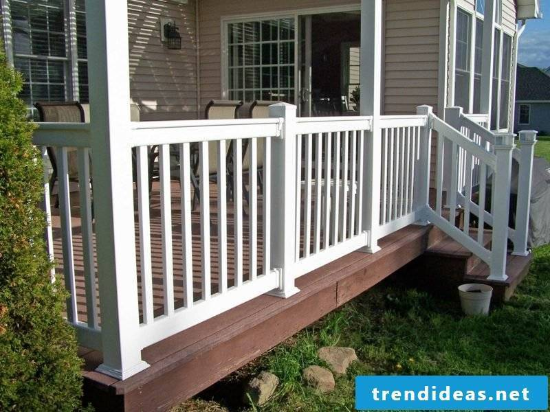 patio railing vinyl railing installed