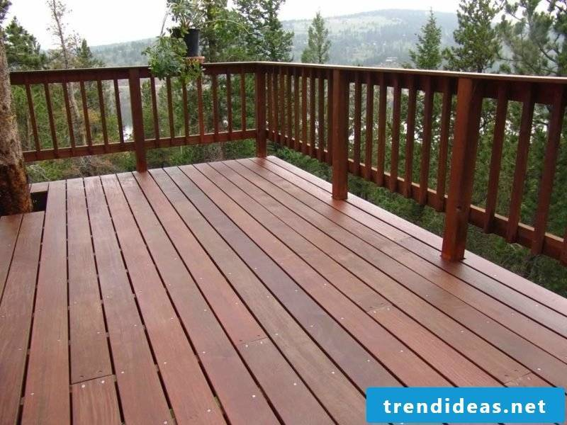 patio railing wood deck