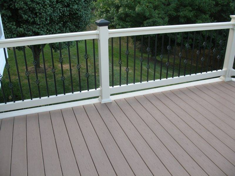 patio railing high resolution pvc