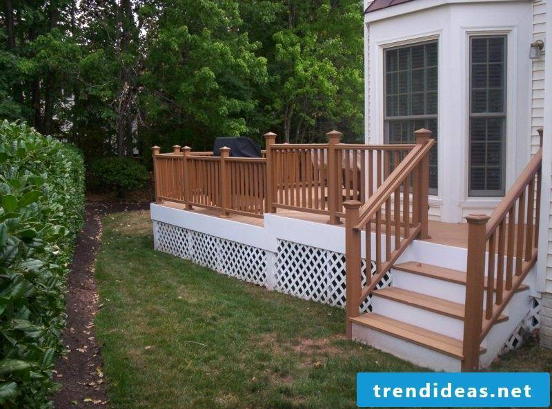patio railing wood porch